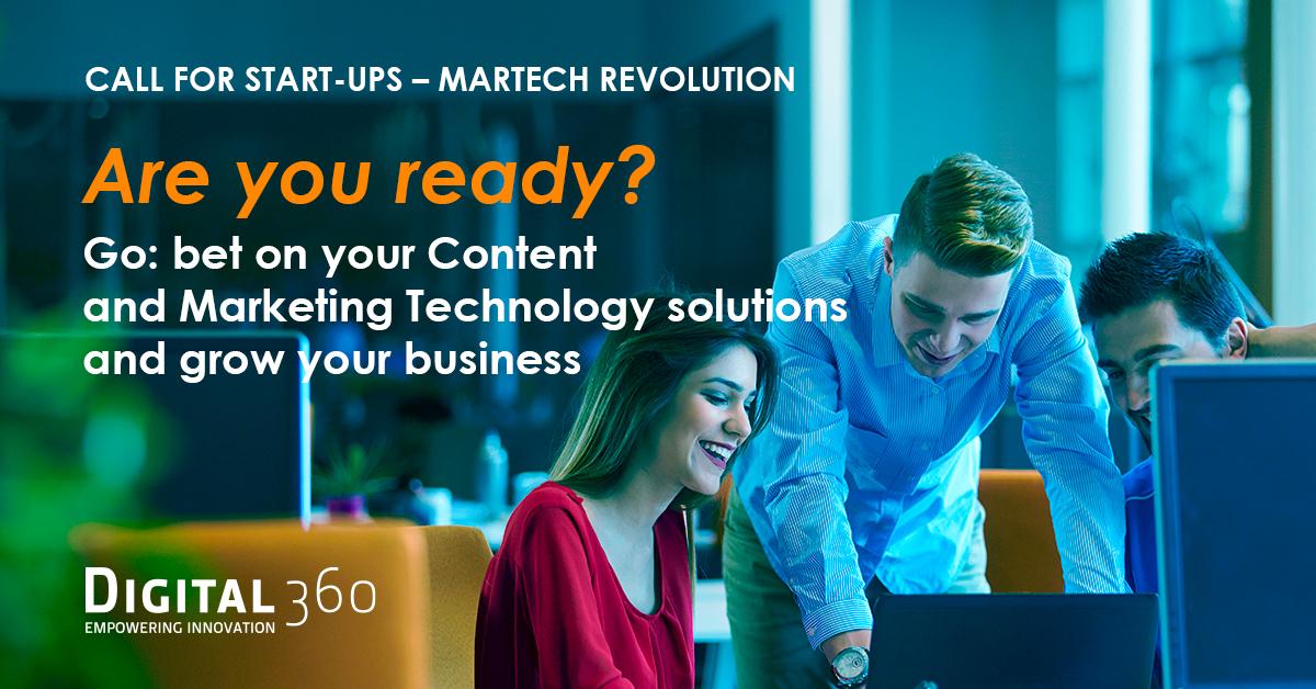 """DIGITAL360 al via la call internazionale per startup """"Martech Revolution"""""""